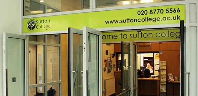 Sutton College Reception