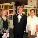 The Arts and Crafts end of year show was opened by the Mayor of Sutton