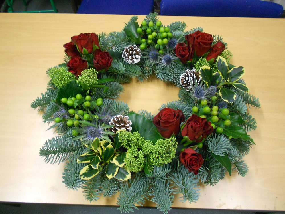 christmas flower arrangements sutton college 01
