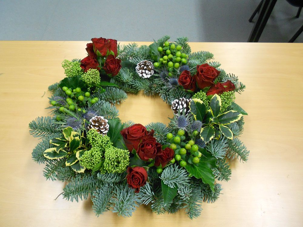 Flower arranging christmas project gallery sutton