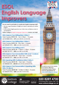 ESOL Improvers Courses at Sutton College