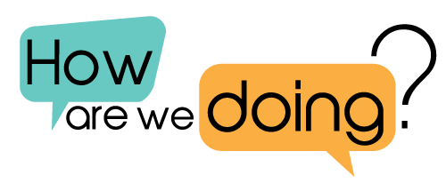 How are we doing logo