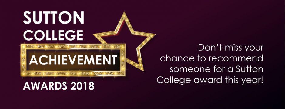 Sutton College Awards 2018