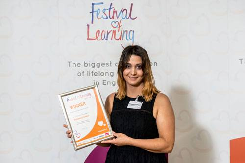 Sutton College student wins National Award