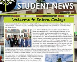 Sutton College Student Newsletter Out Now